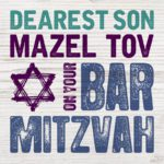 Son Bar Mitzvah Card