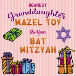Granddaughter Bat Mitzvah Card