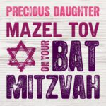 Daughter Bat Mitzvah Card