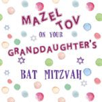 Granddaughter's Bat Mitzvah Card