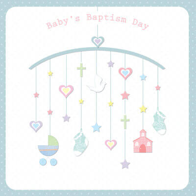 Baby Baptism Greeting Card