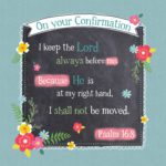 Confirmation Greeting Card