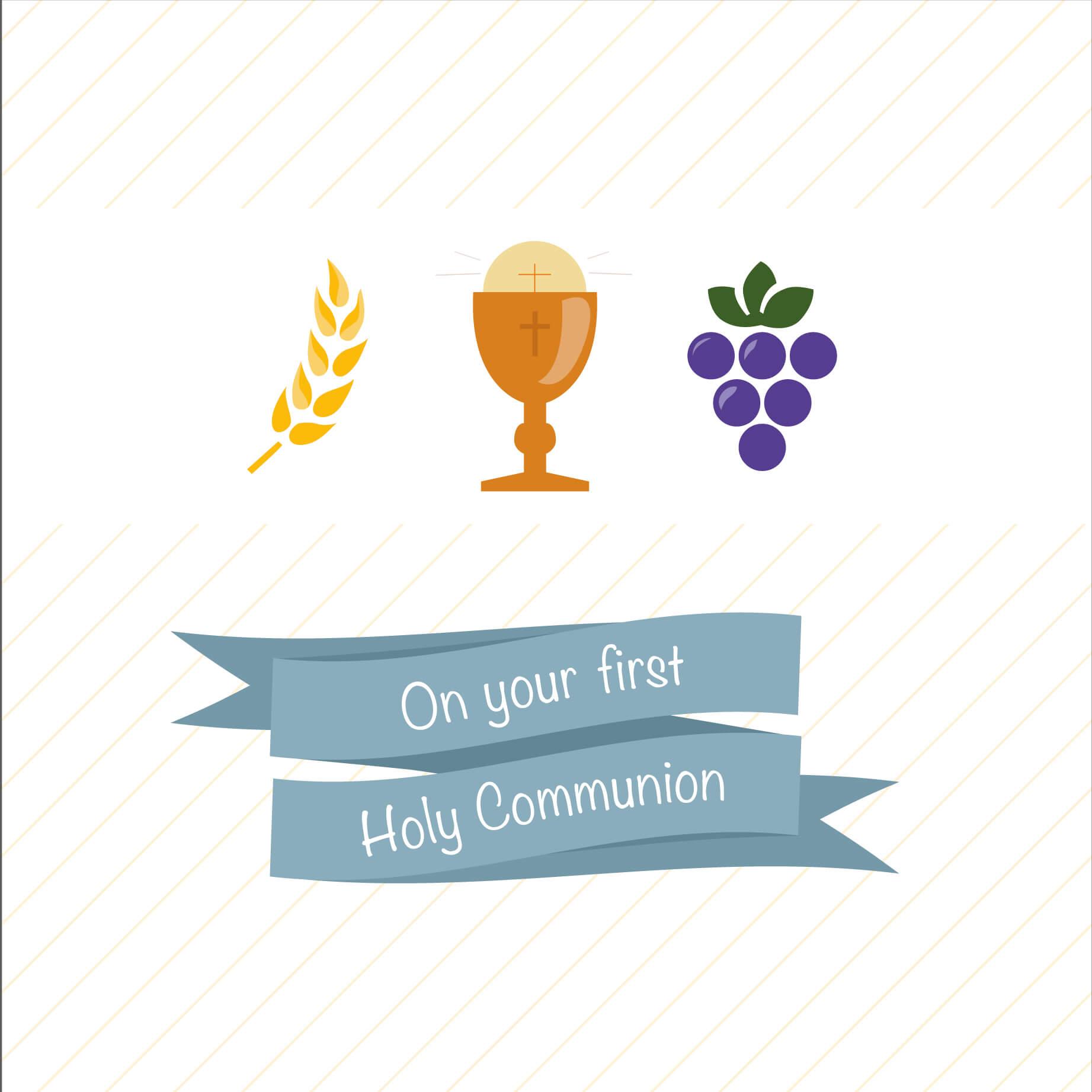 Communion Greeting Card Davora Trade Website