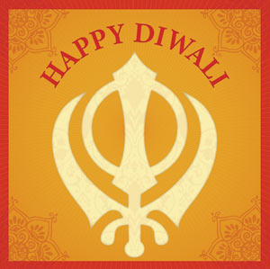Sikh Diwali Greeting Card