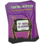 Halloween Invitations 6 pack