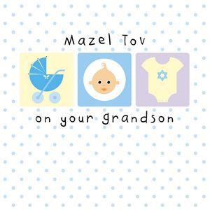 New Grandson Greeting Card