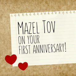 Jewish First Anniversary