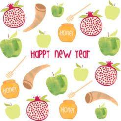 Jewish New Year Greeting Card