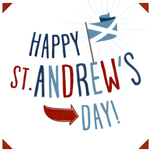 St Andrews Day Card