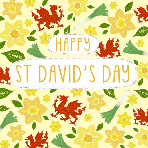 St Davids Day Card